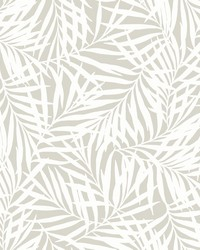 Oahu Fronds Wallpaper Cream Off White by