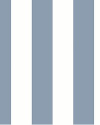 Awning Stripe Wallpaper Blue by