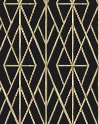 Riviera Bamboo Trellis Wallpaper Black by