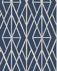 Riviera Bamboo Trellis Wallpaper Navy by