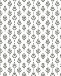 French Scallop Wallpaper Gray by