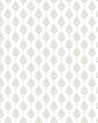 French Scallop Wallpaper Off White by