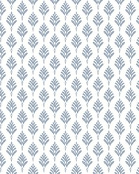 French Scallop Wallpaper Blue by