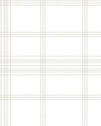 Charter Plaid Wallpaper Off White by