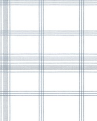 Charter Plaid Wallpaper Blue by
