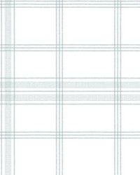 Charter Plaid Wallpaper Light Gray by