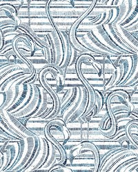 Flamingo Flamboyance Wallpaper Indigo by