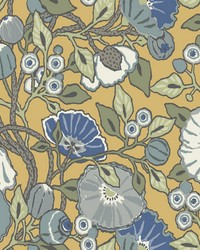 Vincent Poppies Wallpaper Yellow by