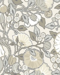 Vincent Poppies Wallpaper Gray by