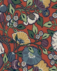 Vincent Poppies Wallpaper Red by