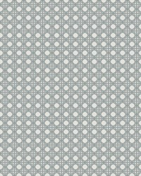 Rattan Overlay Lattice Wallpaper Aqua Grey by
