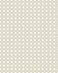 Rattan Overlay Lattice Wallpaper Beige by