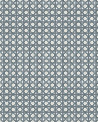 Rattan Overlay Lattice Wallpaper Gray    by