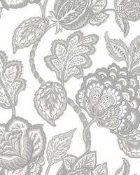 Midsummer Jacobean Wallpaper Gray   White by