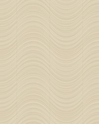 Meander Wallpaper metallic taupe  taupe  silver glass beads by