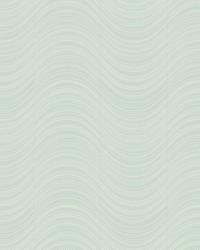 Meander Wallpaper metallic light blue  pale blue  silver glass beads by