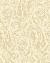 Lyrical Wallpaper pale pearlescent gold  tan  grey by