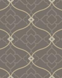 Zuma Wallpaper dark grey  medium grey  tan  white by