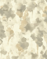 Mirage Wallpaper white  light taupe  dark taupe  gold by
