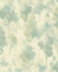 Mirage Wallpaper silvery white  aquamarine  grey  yellow green by