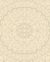 Karma Wallpaper soft pale gold  cream  silver glitter by