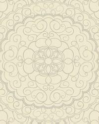 Karma Wallpaper cream  white  silver glitter by