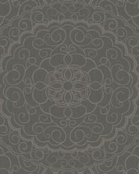 Karma Wallpaper dark grey  black  gold glitter by