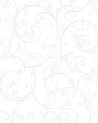 Disney Princess Perfect Scroll Wallpaper White Glitter by