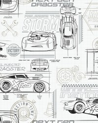 Disney and Pixar Cars Schematic Wallpaper Neutral by