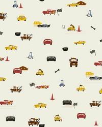 Disney and Pixar Cars Racing Spot Wallpaper Cream by