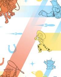 Disney and Pixar Toy Story 4 Retro Wallpaper Blue Orange by