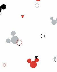 Disney Minnie Mouse Dots Wallpaper Red Black by