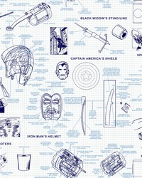 Marvels Heroes Schematics Wallpaper Blue by