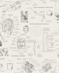Marvels Heroes Schematics Wallpaper Cream by