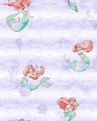 Disney The Little Mermaid Swim Wallpaper Purple by