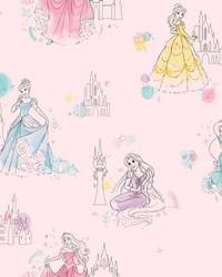 Disney Princess Pretty Elegant Wallpaper Pink by