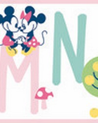 Disney Mickey Mouse ABC Border Wallpaper Border Pink by