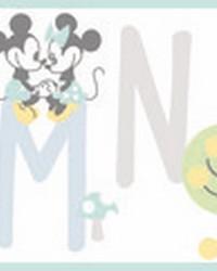 Disney Mickey Mouse ABC Border Wallpaper Border Green by