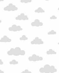 Disney Winnie the Pooh Cloud Wallpaper Gray by