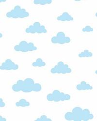 Disney Winnie the Pooh Cloud Wallpaper Blue by