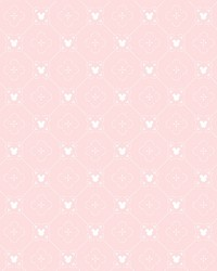 Disney Mickey Mouse Argyle Wallpaper Pink by
