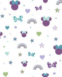 Disney Minnie Mouse Rainbow Wallpaper Purple by
