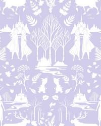 Disney Frozen 2 Nordic Wallpaper Purple Glitter by