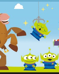Disney and Pixar Toy Story 4 Border Wallpaper Border Green by