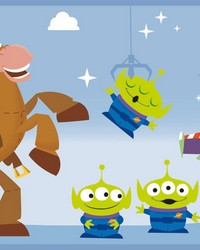 Disney and Pixar Toy Story 4 Border Wallpaper Border Blue by