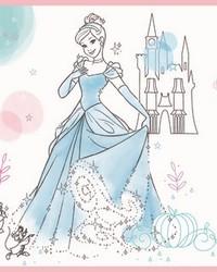 Disney Princess Pretty Elegant Border Wallpaper Border Blue Pink Green by