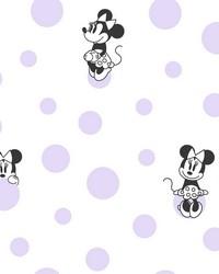 Disney Minnie Mouse Dots Wallpaper Purple by
