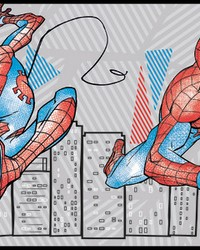 Spider-Man Fracture Border Wallpaper Border Red Gray Blue by