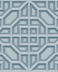 Asian Lattice Wallpaper Blue by