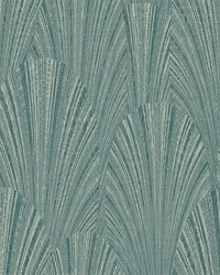 Fountain Scallop Wallpaper Green by